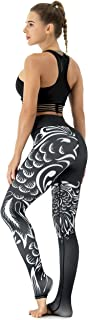Beauty_yoyo High Waist Printed Leggings Yoga Tummy Control Workout Running Yoga Pants for Women