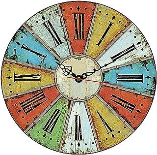 MGT0061 (30 x 30 cm) Analog wood-Wall Clock multi color
