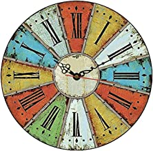 MGT0061 (30 x 30 cm) Analog wood-Wall Clock multi color