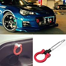 DTOUCH Racing Sports Red Track Racing Style Aluminum Tow Hook for Scion FR-S Toyota 86 Subaru BRZ Impreza WRX Sti, etc (2303#-RED)