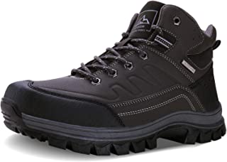 MAYZERO Men`s Snow Boots Winter Anti-Slip Ankle Booties Backpacking Boots Hiking Boots for Men