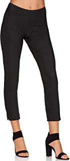 Women's Wrinkle-Resistant Solid Color Knit Crop Pant