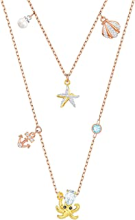 Crystal Ocean Charm Necklace