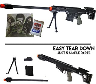 UKARMS 260 FPS Dark OPS Sniper Package - Airsoft BB Rilfe Gun w/Target & 1000 BBS