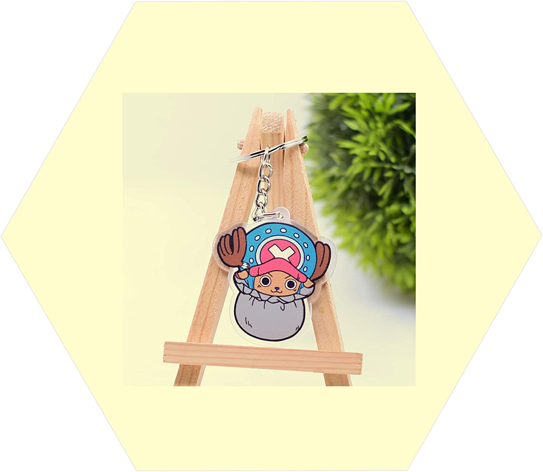 Keychain For Tony Tony Chopper One Piece Anime Accessories Keyring Car Keys 01pc