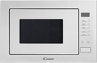Candy MICG25GDFW - Microondas integrable con grill sin marco, Capacidad 25L, 900 W - 1000 W, 8 niveles de potencia, Plato giratorio 31,5cm, Mandos electrónicos, Display Digital, Color blanco