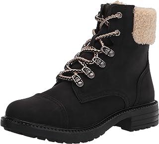 Report Women's Bootie, Combat Boot, BLACK, 8.5