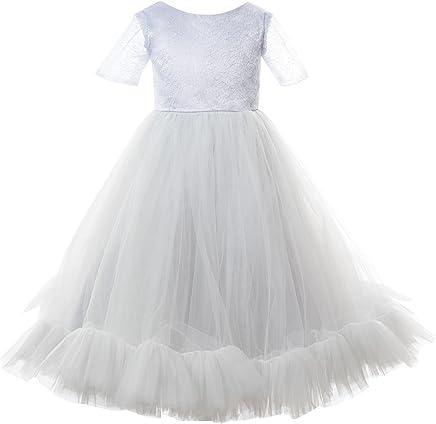 494c02746c Mrprettys Silver Grey Tutu Flower Girls Dress Toddler Wedding Party Dress