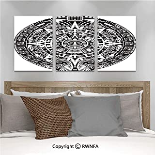 Canvas Wall Art HD Mayan Calendar Apocalypse Astronomy Belief Traditional Stars Face Ethnicity Culture Art Modern Canvas Prints Painting Artworks Oil Painting Decorative,15.7