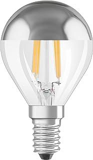 OSRAM - 4058075810433 - Ampoule LED Filament Sphérique Calotte Argentée - 4W Equivalent 34W - Culot E14 - Blanc chaud 2700...