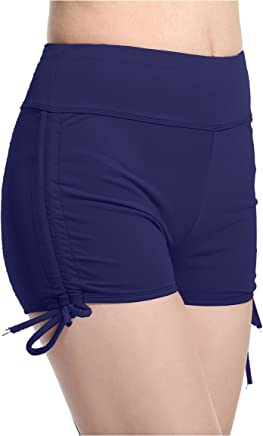 af0c17645dea7e Lotsyle Women's Elastic Tether Swimming Trunks Flat Pants Solid Color  Underwear