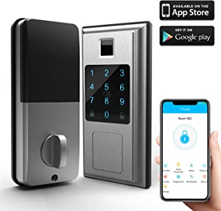 Smart Lock Front Door, ChicAid Keyless Entry Door Lock, Digital Electronic Deadbolt with Touch Keypad for Home Hotel Apartment Office, Stain Nickel