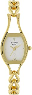 Raga Women's Bracelet Watch - Quartz, Water Resistant - Gold Band and Silver Dial