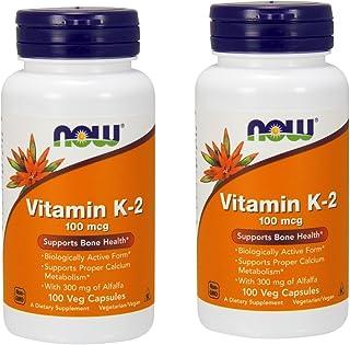 Now Foods Vitamin K-2 100 mcg - 100 Vcaps ( Multi-Pack)