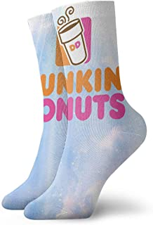MichaelMichaels Crew Socks for Women Men Dunkin Donuts Patterned Socks