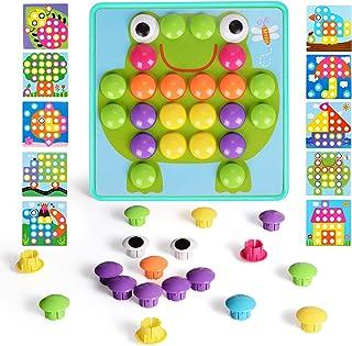 NextX - Juego de botones para niños, diseño de mosaicos a juego de colores para niños y niñas