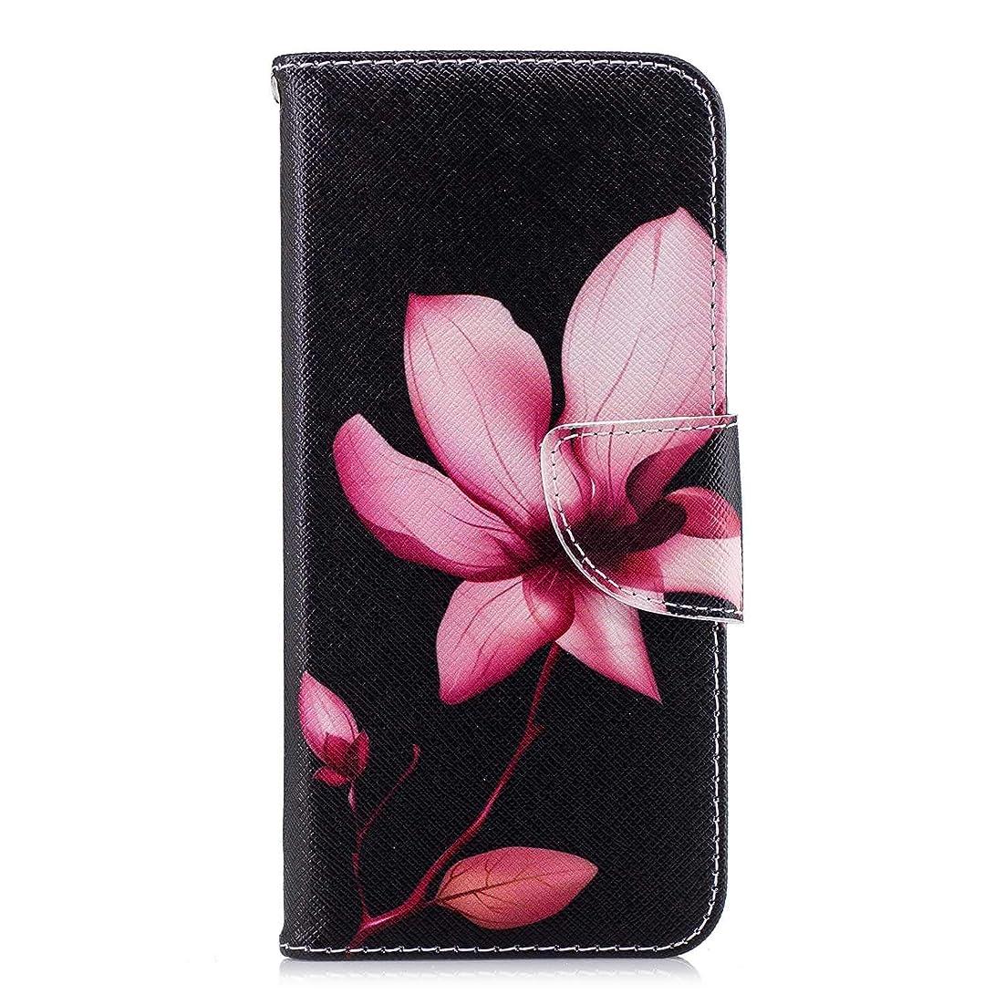 ブロック電報つまらないOMATENTI Huawei Honor 10 ケース, ファッション人気 PUレザー 手帳 軽量 電話ケース 耐衝撃性 落下防止 薄型 スマホケースザー 付きスタンド機能, マグネット開閉式 そしてカード収納 Huawei Honor 10 用 Case Cover, 花