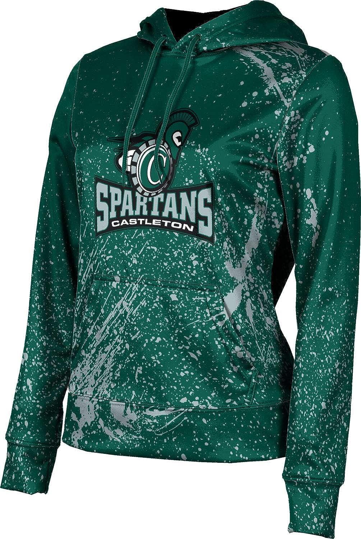ProSphere Castleton University Girls' Pullover Hoodie, School Spirit Sweatshirt (Splatter)