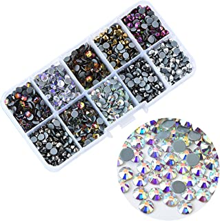BLINGINBOX 1000pcs Mix Colors AB with Box, 10 Colors ss16(3.8-4.0mm) Hotfix Rhinestone Garment Crystal Glass Material