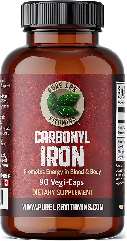 Pure Lab Vitamins Carbonyl Iron Oklahoma City Mall 90 Caps Weekly update Supplement- Vegetarian -