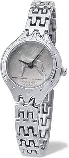 Ladies Genuine Irish Sixpence Coin Silver Style Bracelet Wristwatch