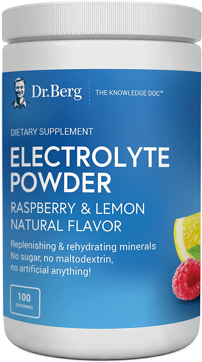 Dr. Berg's Electrolyte Powder Flavor latest Lemon Safety and trust Raspberry Natural