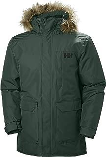 Helly Hansen Men's Dubliner Parka 100 Gram Primaloft Insulated Waterproof Windproof Breathable Rain Coat with Hood, 495 Darkest Spruce, Large
