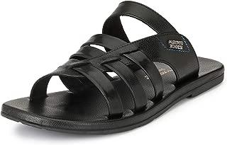 Alberto Torresi Men Ronald Black Sandals