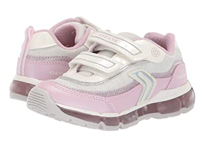 Geox Kids Android Girl 21 (Little Kid) (White/Pink) Girl