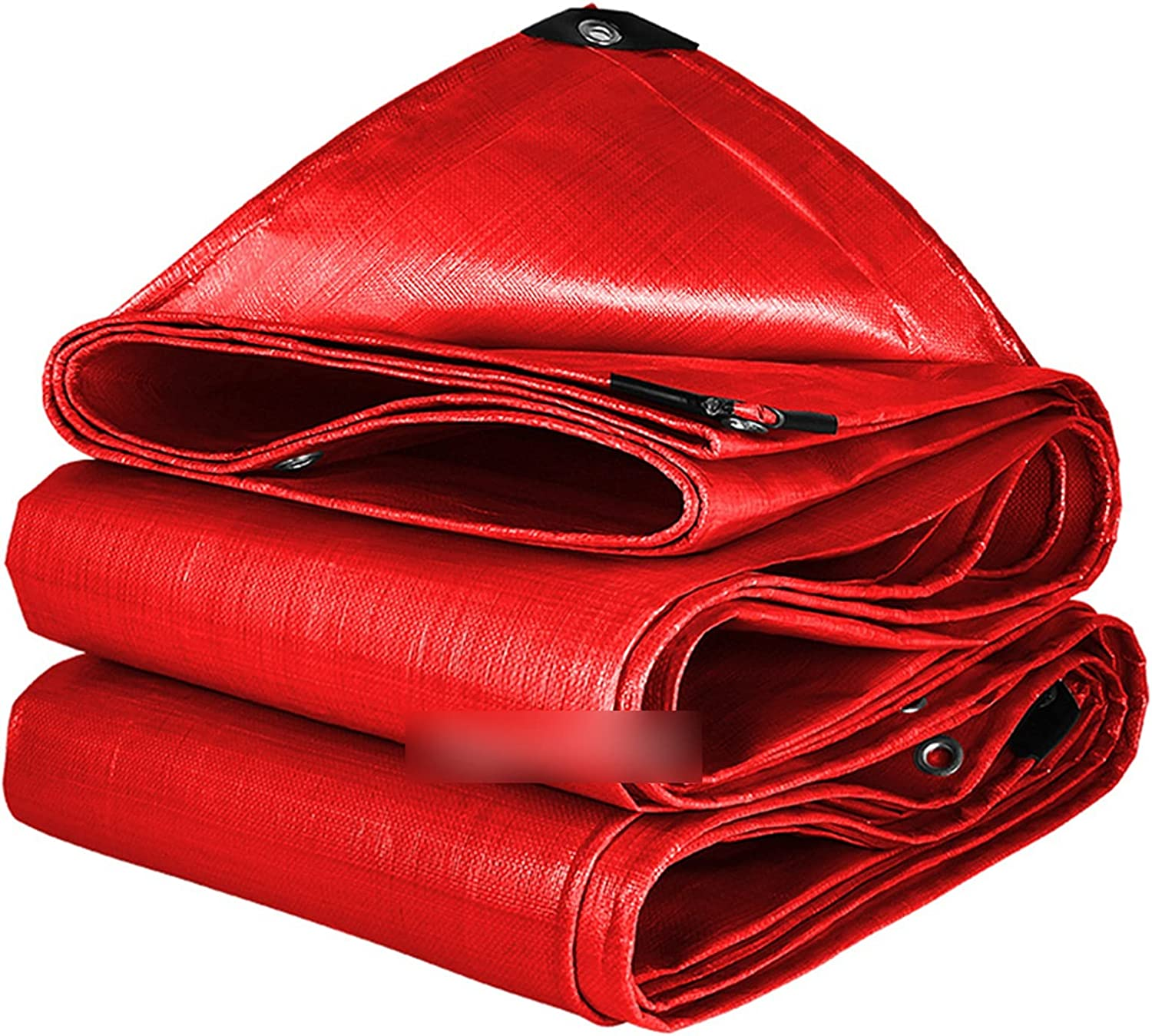 ZHYLing Red PE Max 41% OFF Rainproof Cloth Tarpaulin Outdoor Awning Shading Weekly update