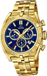 JAGUAR - Reloj Modelo J853/3 de la colección Executive, Caja de 45,8 mm Azul con Correa de Acero Chapado para Caballero