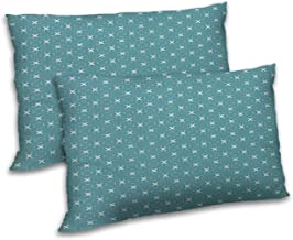 RADANYA Abstract Printed Pillow Cover Set Living Room Sofa Couch Throw - 12x18 Inch, Teal Green