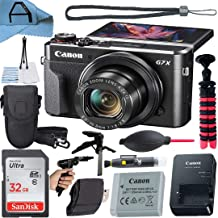 $589 » Canon PowerShot G7 X Mark II Digital Camera 20.1MP Sensor with SanDisk 32GB Memory Card, Case, Tripod and A-Cell Accessory...