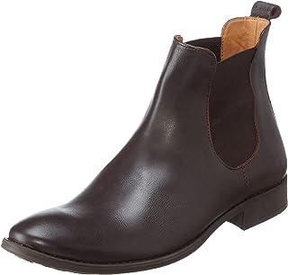 Salerno Leather Side Elastic Panel Slip-On Ankle Boots For Men