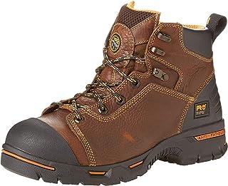"Timberland Pro 47591 Endurance 6"" Steel Toe Waterproof Brown Boots"