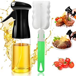 Oil Sprayer for Cooking, Reusable Oil Spray Bottle with Brush Refillable Olive Oils Dispenser, Versatile Food Grade Vinega...