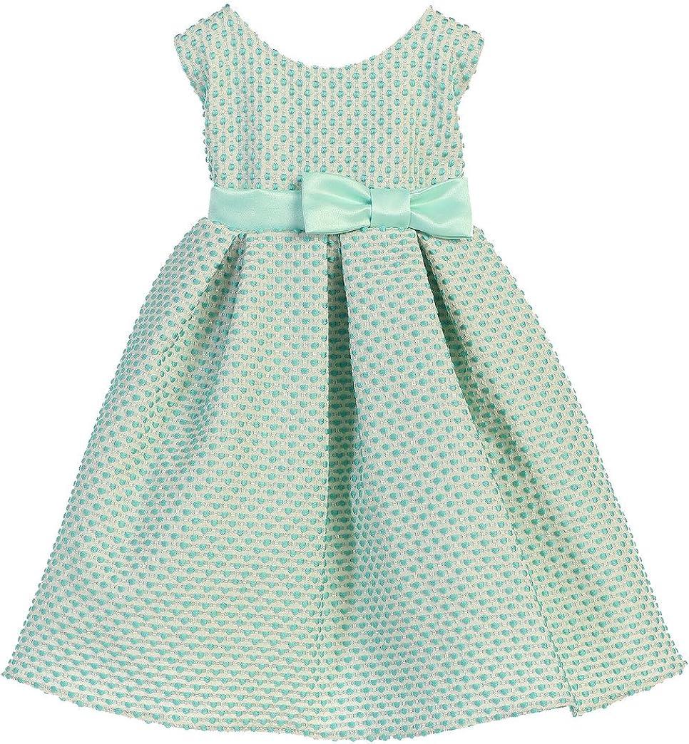 Sweet Kids Petite Polka Dot Jacquard Girls' Dress