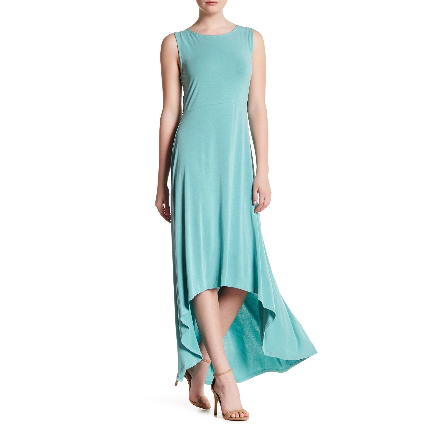 Available at Amazon: BCBG MaxAzria Dress Fara High Low Twist Back Aqua XS