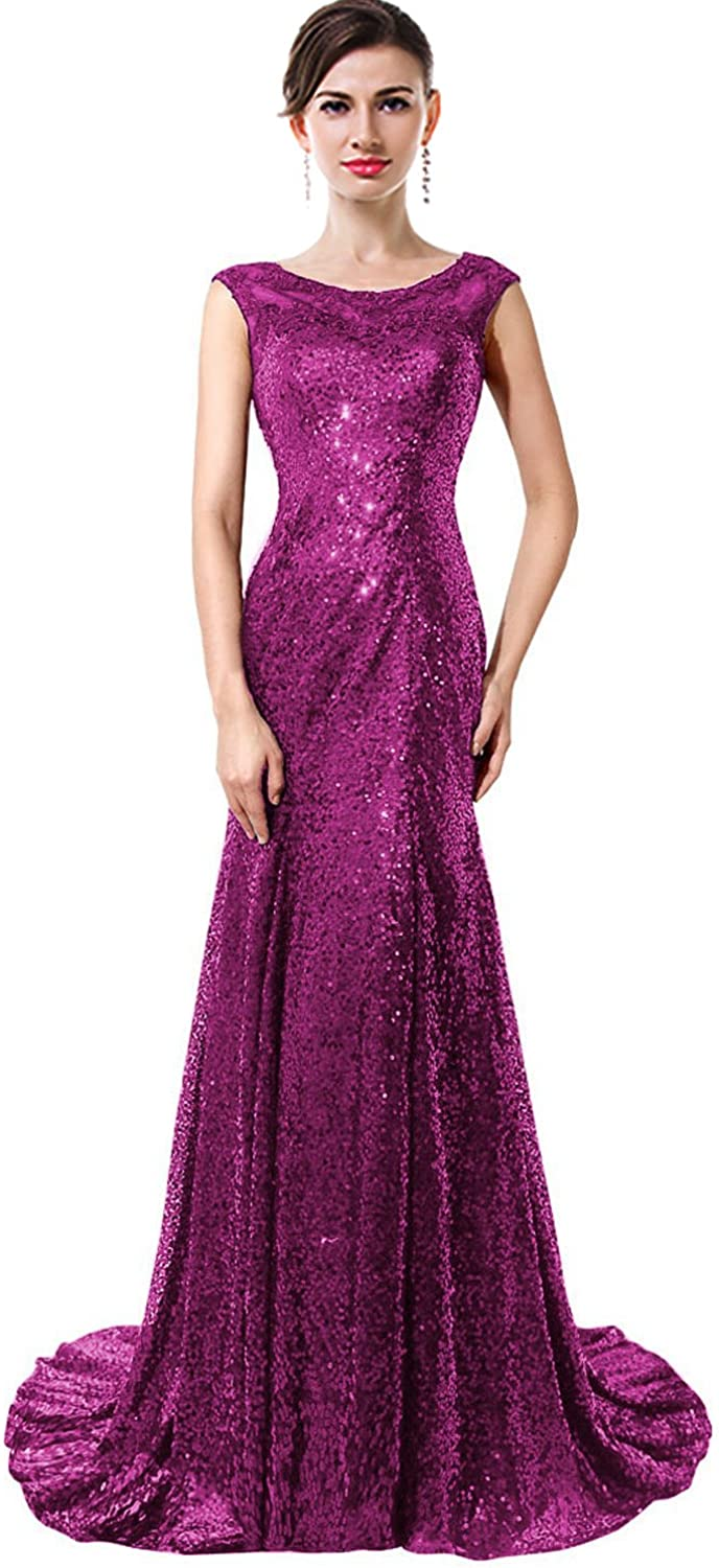 MaliaDress Sequin Glitter Formal Evening Prom Gown Party Dress M027LF
