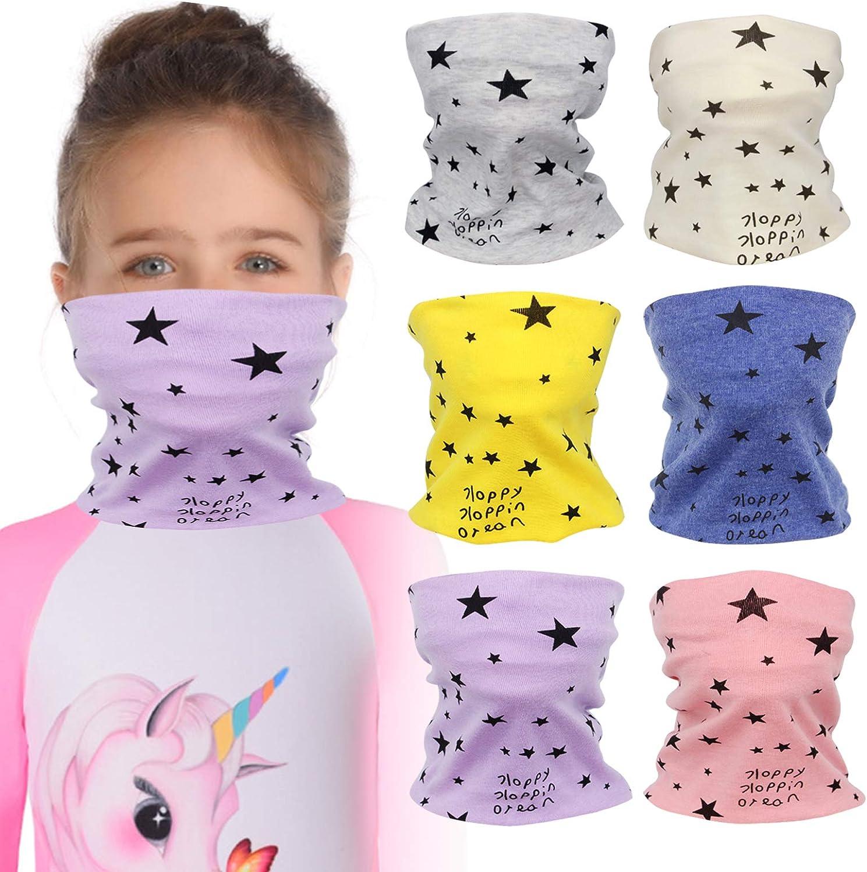 6 Pieces Kids OFFicial shop Neck Gaiters Mask Reusable Bala - scarf Face Cover Atlanta Mall