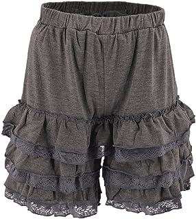 日本国内発送【X-CLOTHES】 ペチパンツ レディース ペチコート フリルパンツ ウエストゴム キュロット ブラック ふわふわ フリル ボトムス キュロット 大きいサイズ