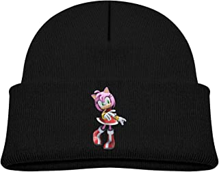 Soft Baby Cap Knitted Hat for Baby with Lovely Sonic Hedgehog Amy Rose Pattern