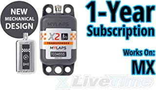 MyLaps X2 Transponder, Rechargeable, for MX (motocross), includes 1-Year Subscription