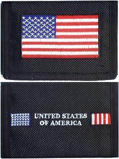 USA American Flag Heavy Duty Nylon Velcro Wallet