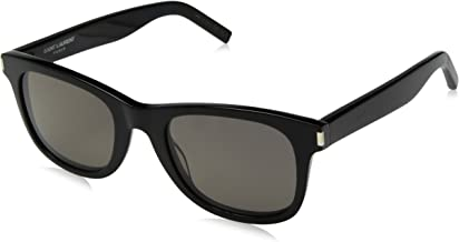 Saint Laurent - SL 51, Wayfarer, acetate, men, BLACK/SMOKE CRYSTAL LENS(002 A), 50/22/140