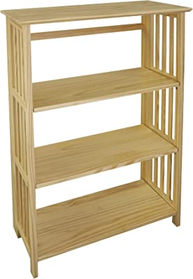 Amazon.com: Casual Home Soho Manhattan 4-Shelf Folding Bookcase 26