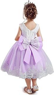 NNJXD Niñito Bebé Tul Flor Princesa Boda Vestir Chicas Cumpleaños Vestidos