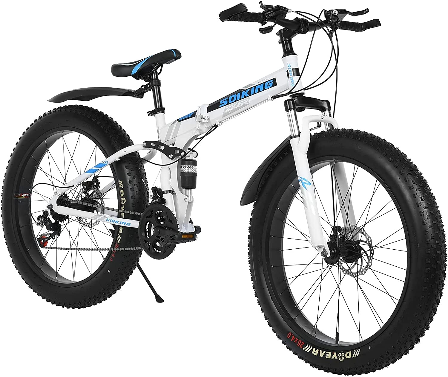 TOUNTLETS Fat Fresno Mall Tire Mountain Bike 26 Bicycle Inch 21-Sp Max 86% OFF Mens for