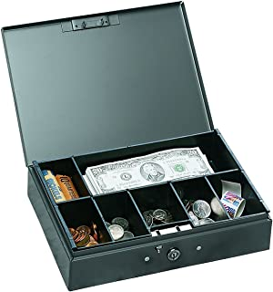 STEELMASTER Low Profile Steel Cash Box, Gray (221F10GRA)