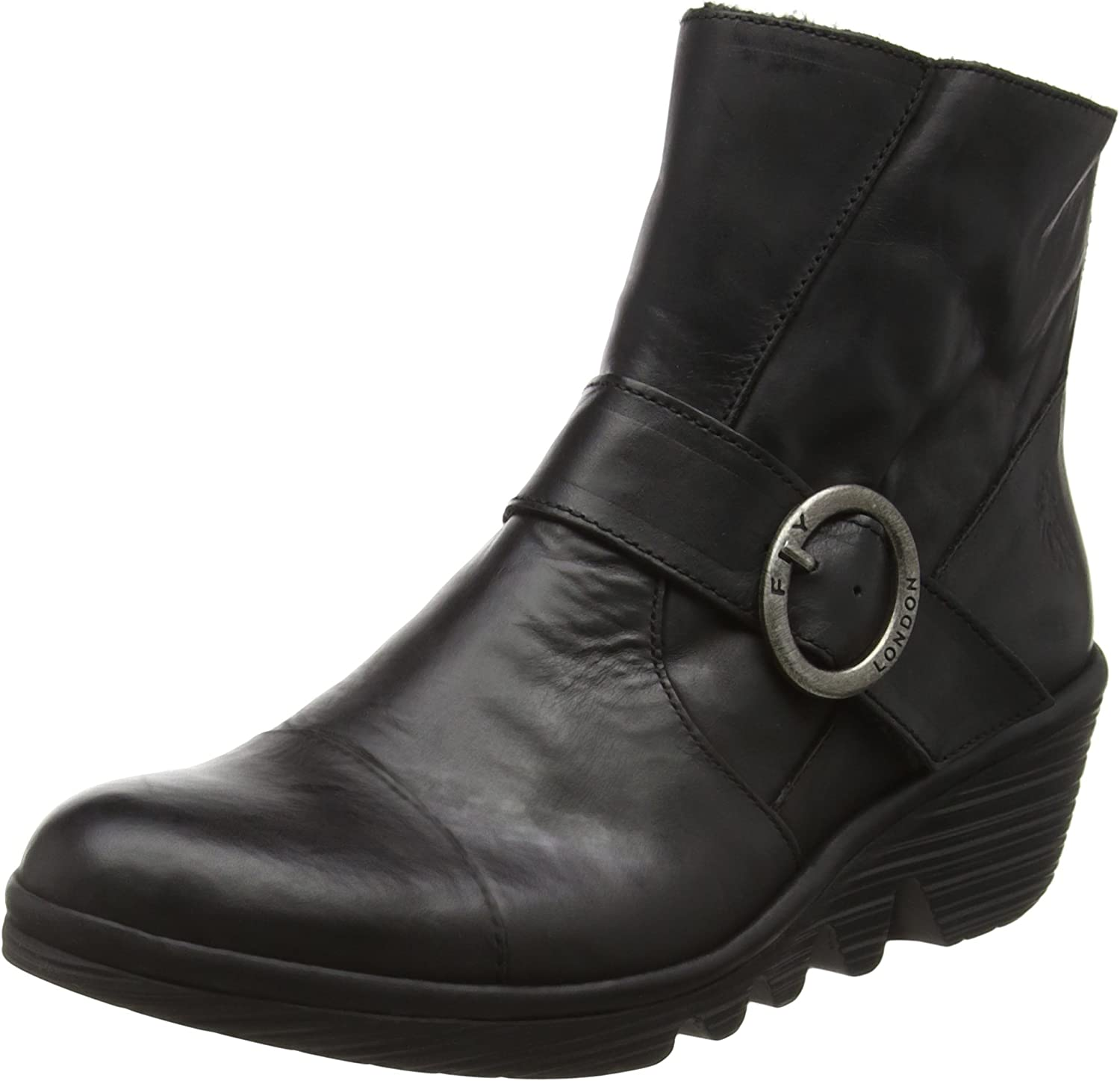 Fly London Women's Pais Casual Ankle Boots Black